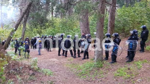 Allanamiento en tierras ocupadas por los Mapuches