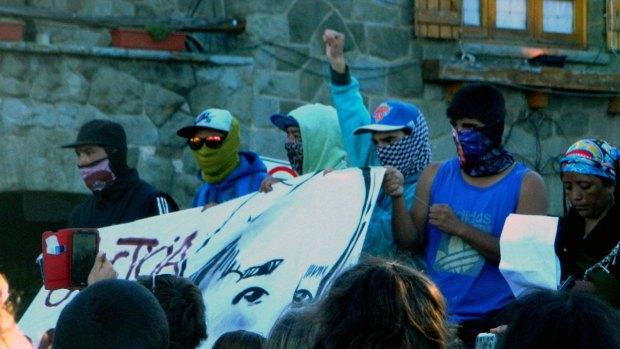 Marcha en Bariloche