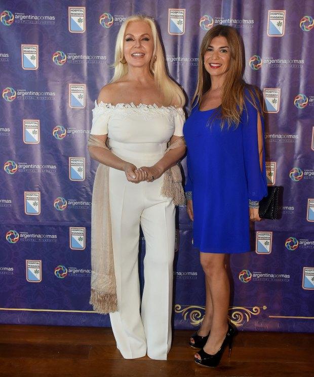 Diana Chugri y la abogada Lina Anllo