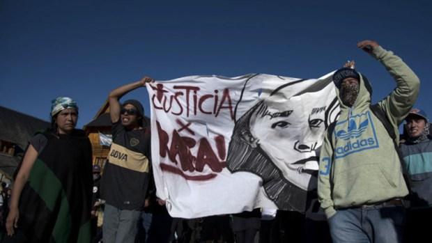 Reclamo de justicia por la muerte de Rafael Nahuel (www.rionegro.com.ar)