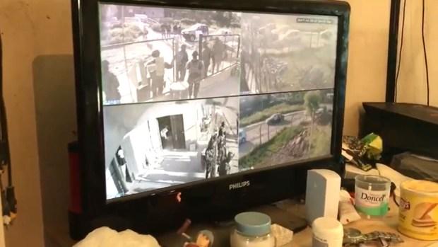 Uno de los domicilios contaba con un sistema de vigilancia interno