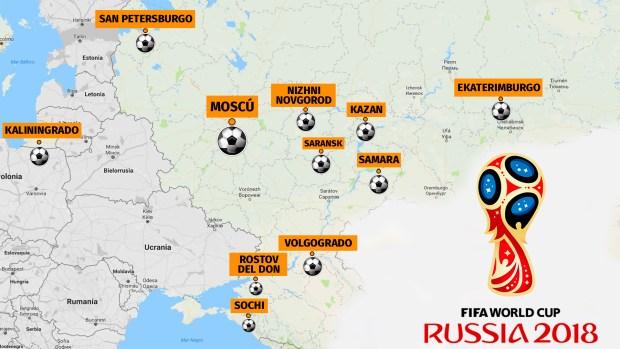 Moscú se encuentra en el centro estratégico de todas las sedes