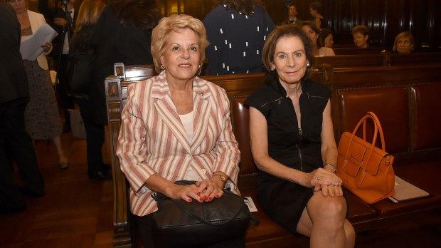 Las juezas del Tribunal Superior de Justicia porteña Alicia Ruiz e Inés Weinberg de Roca