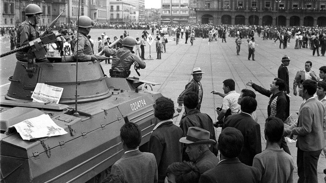 Las protestas estudiantiles de 1968 culminaron en una fuerte represión de las fuerzas de seguridad en lo que se conoció como la Masacre de Tlatelolco