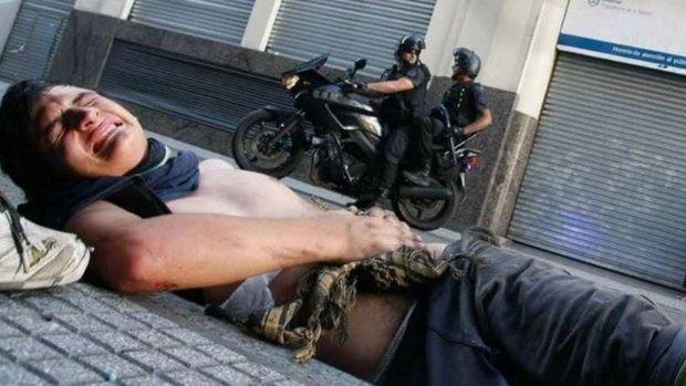 Alejandro Rosado, el cartonero pisado por la moto policial (El Patagónico)