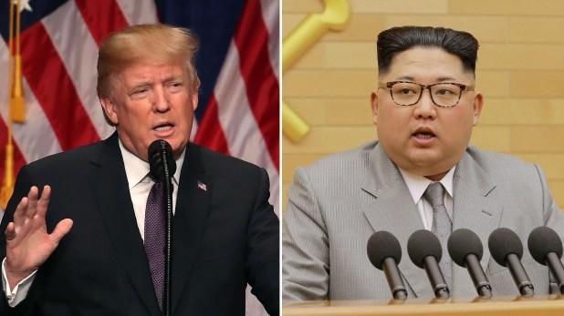 El presidente estadounidense, Donald Trump, y el dictador supremo norcoreano, Kim Jong-un (Getty / Reuters)