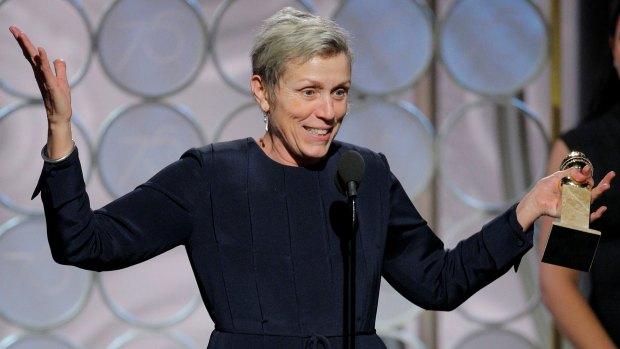 """Frances Mc Dormand, protagonista de """"Tres anuncios por un crimen"""", ganó el premio a Mejor actriz en la última ceremonia de los Golden Globe (Reuters)"""