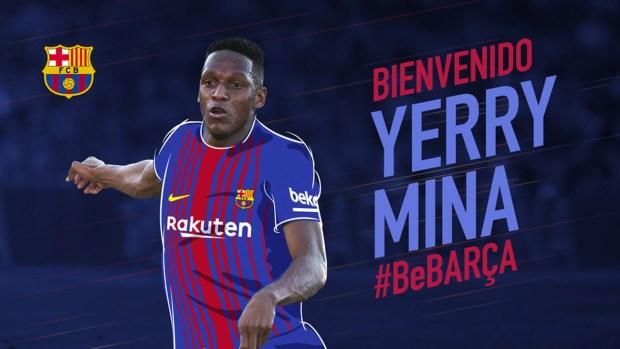 Mina fue anunciado como nuevo refuerzo del Barcelona