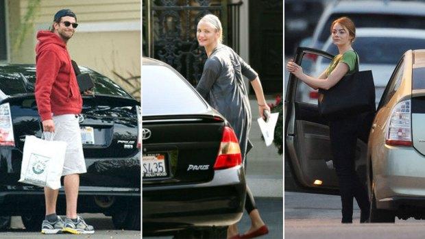 Bradley Cooper, Cameron Diaz y Emma Stone: tres celebridades que eligieron el Prius.