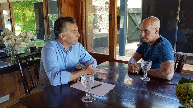 Ayer, el presidente Macri se reunió con Rodríguez Larreta.