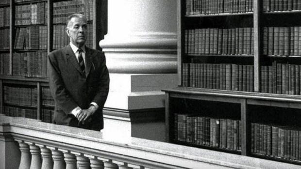Borges en la Biblioteca Nacional argentina