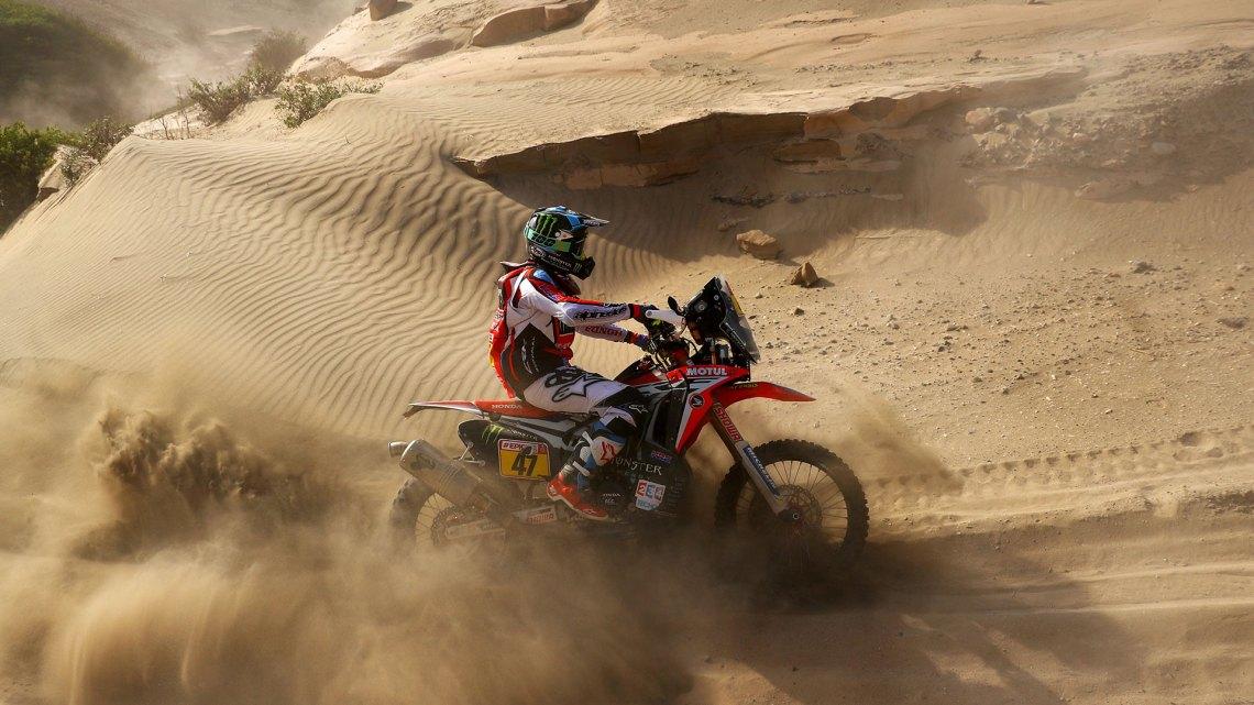 El argentino Kevin Benavides quedó líder en motos en el Dakar 2018 (Getty Images)