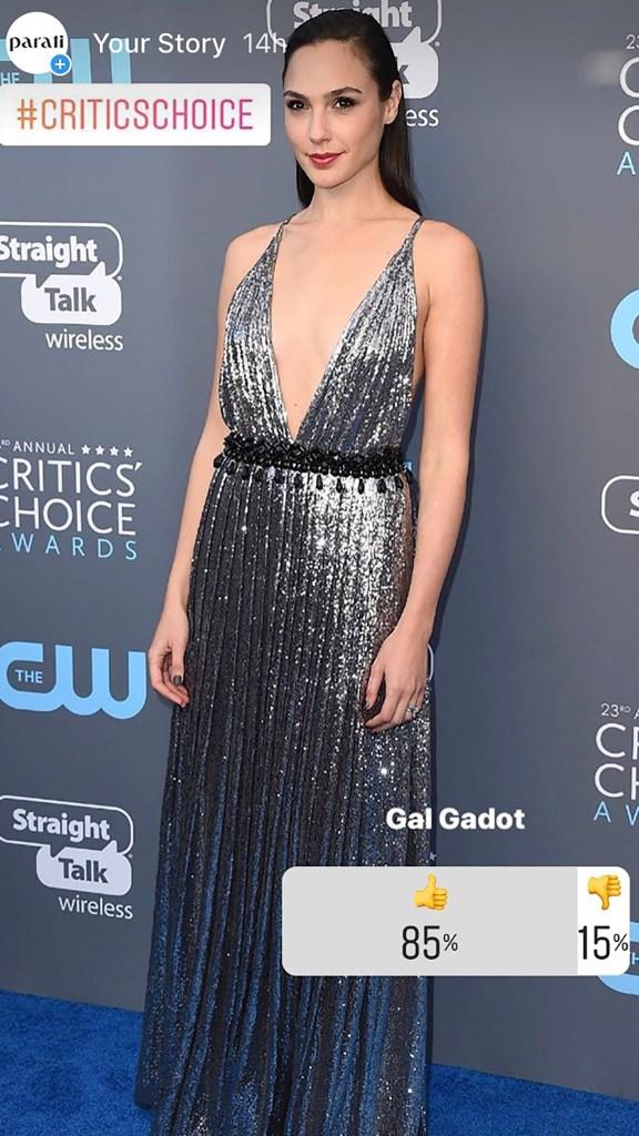 Gal Gadot entre las preferidas, con un diseño espectacular de Prada. Además de ser una de las más elegantes, la actriz recibió el premio especial See Her, por su trabajo en Wonder Woman.