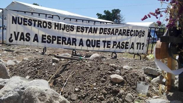 Imagen defosas en Morelos (Brigada Nacional de Búsqueda de Personas Desaparecidas)