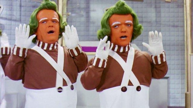 """Oompa Loompas, los personajes de la película """"Willy Wonka & the Chocolate Factory"""", de 1971"""