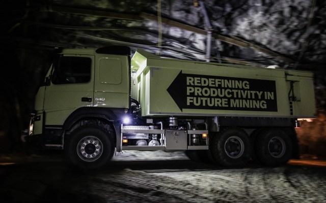 En la sede de Kristineberg, la minera utiliza camiones sin conductor, de Volvo (Tomas Westermark/Boliden)