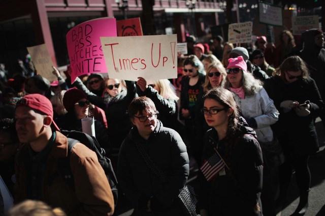 Miles de mujeres marcharon en todo EEUU por la igualdad de género (Scott Olson/Getty Images/AFP)