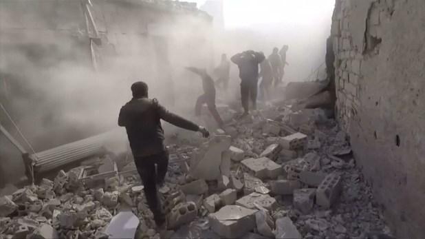 Bombardeo en Idlib, Siria
