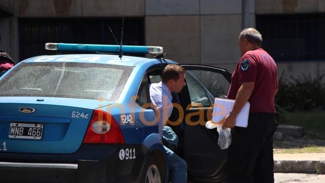 Leandro Rodríguez, al ser detenido (Thomas Khazki)