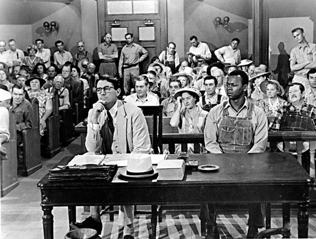 "Escena de ""Matar a un ruiseñor"", con Gregory Peck (1962)"