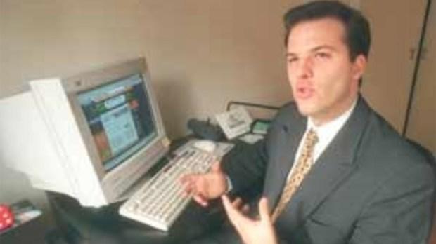 Gonzalo Arzuaga en los '90, como CEO de GauchoNet.