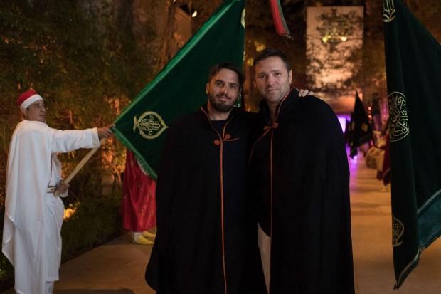 "Agustin Pichot durante la fiesta oriental ""Black and White"" en el hotel Palais Namaskar"