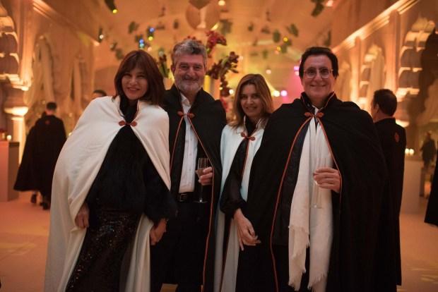 Carlos de Narváez y Mariana Hartz de Narváez durante la fiesta oriental