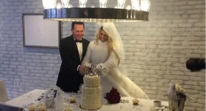 Victoria Xipolitakis y Javier Naselli el día de su boda