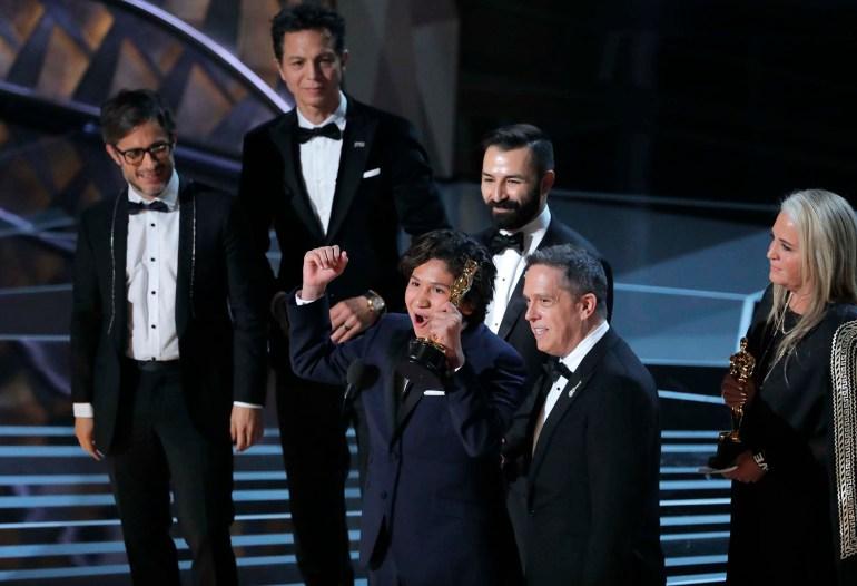 """El equipo de """"Coco"""" celebra el premio a Mejor película de animación"""