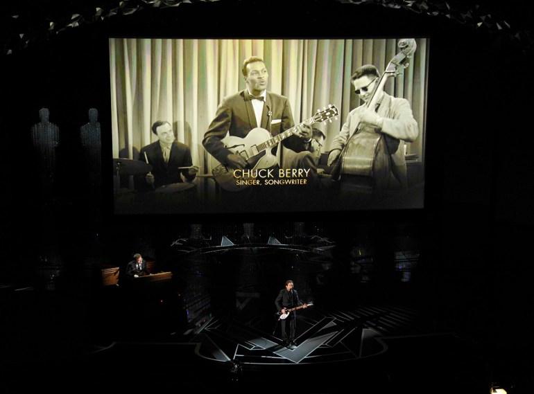 Chuck Berry fue otro de los artistas recordados durante la ceremonia de los Oscar
