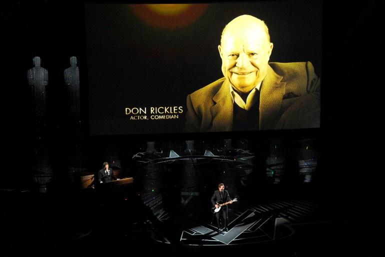 Don Rickles en el emotivo video en memoria a los artistas que ya no están