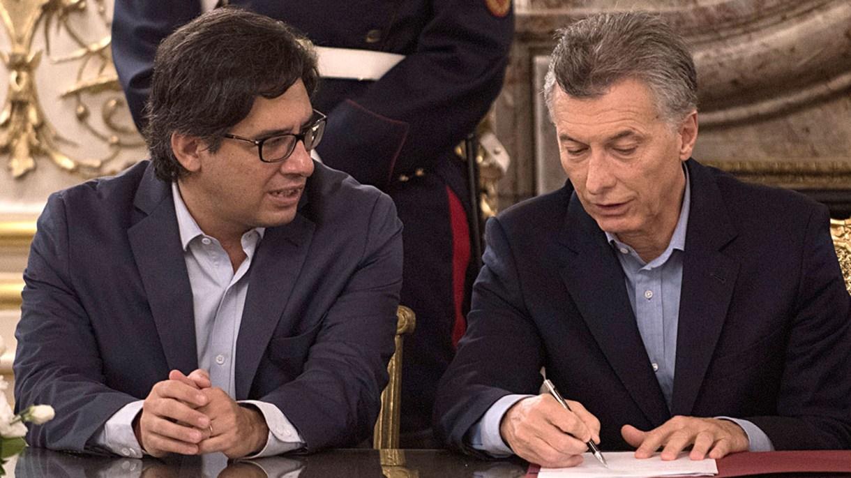 El presidente Mauricio Macri y el ministro de Justicia Germán Garavano (Adrián Escándar)