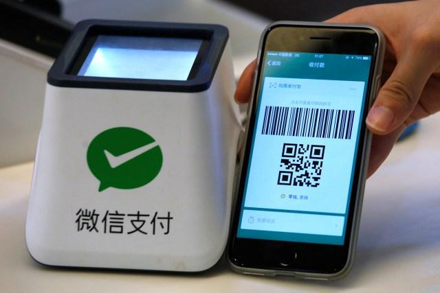 Sistema de pago a través de la app WeChat (REUTERS/Bobby Yip)
