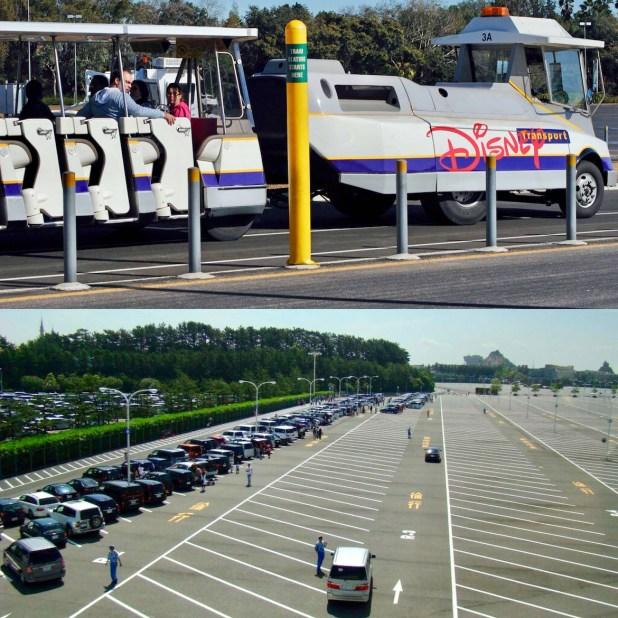 Unos de los estacionamientos de los hoteles dentro del predio ocupado por los parques de Disney que se verá afectado por el cambio a partir del 21 de marzo