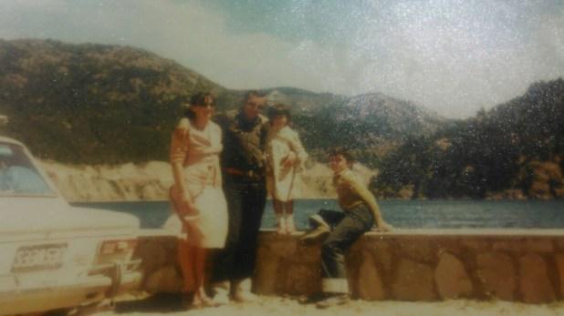 Los años felices de Acosta junto a su familia