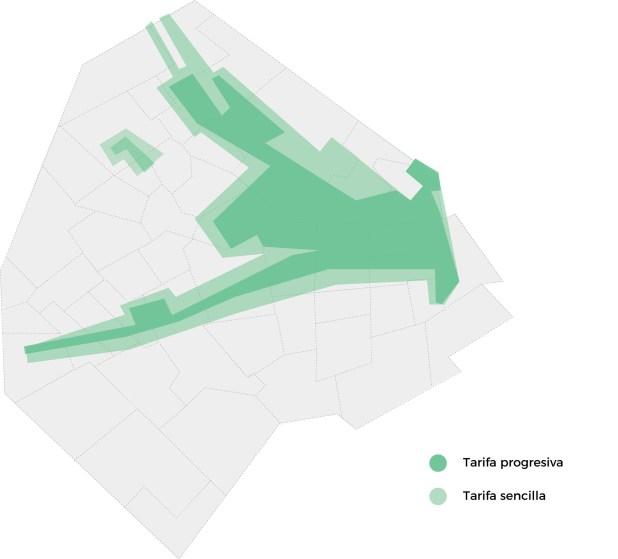 Las zonas afectadas por la colocación de parquímetros