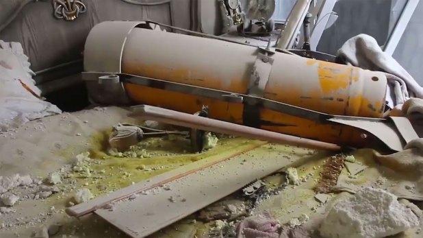 Una bomba barril que no estalló, en el último ataque en Duma