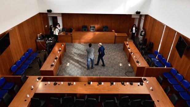 La sala de audiencias donde se conoció la sentencia para Los Monos (A. Escandar)