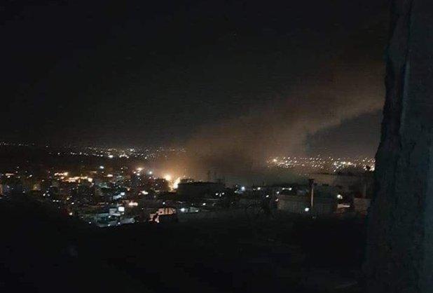 Escena de los ataques en Siria
