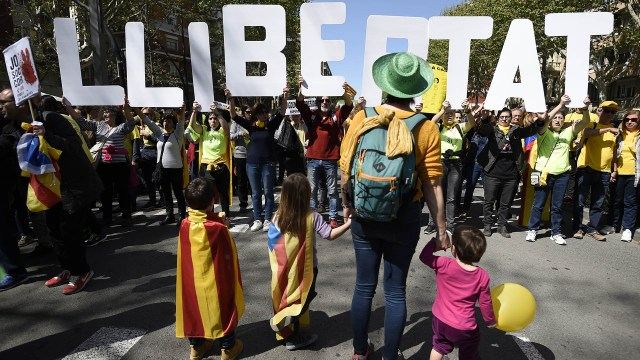 Independentistas catalanes (AFP)