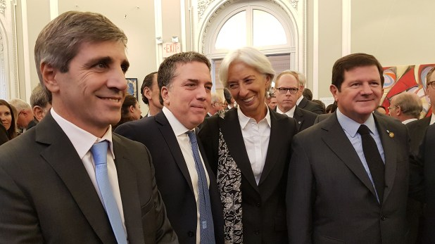 Caputo, Dujovne y Lagarde en Washington