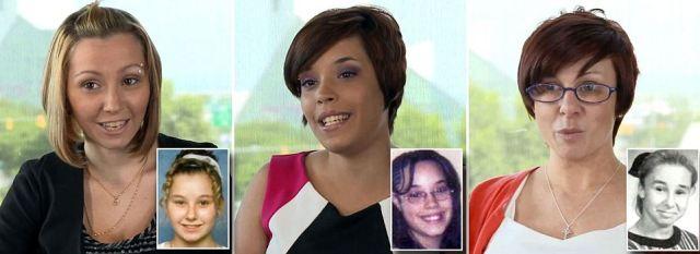 Amanda Berry, Gina DeJesus y Michelle Knight, al momento de sus secuestros y en la actualidad (Belle News)