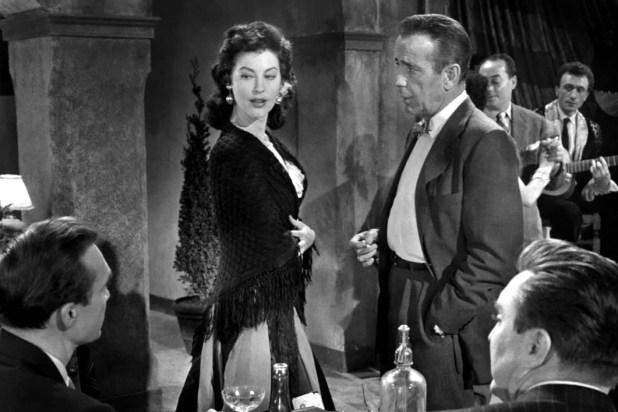 """Junto a Bogart, en """"La condesa descalza"""""""