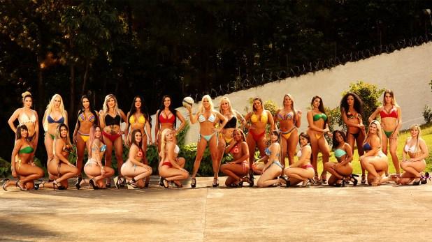 Las candidatas de la última edición de Miss Bumbum 2018, el concurso que premia a la mejor cola de Brasil (Photo © 2018 Splash News/The Grosby Group)