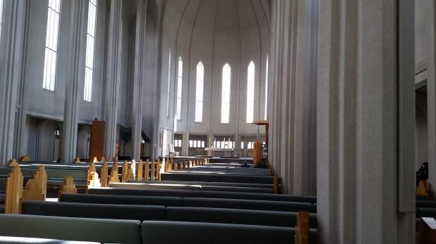 Interior de la Hallgrimskirkja
