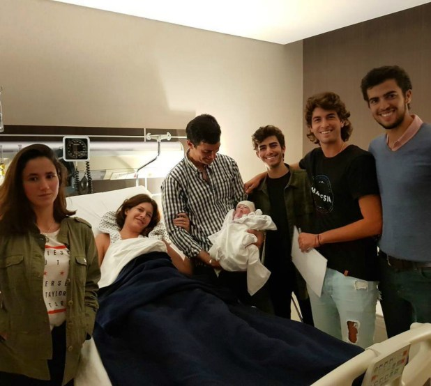 Los Urtubey: Marcos, Lucas, Mateo, Juana, Isabel , Juan Manuel e Isabelita. (Foto Instagram)