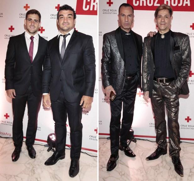Nicolas Sánchez y Agustín Creevy; Walter Vázquez y Roberto Piazza