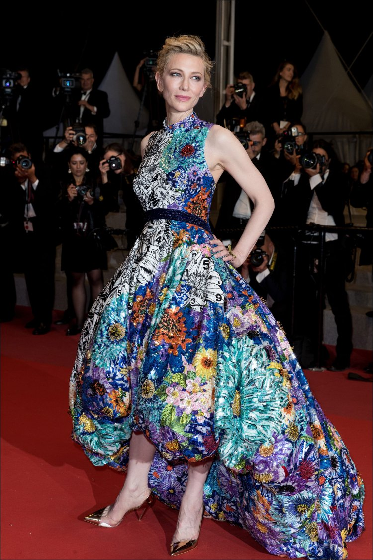 Cate Blanchett, impecable con un look de Mary Katrantzou.
