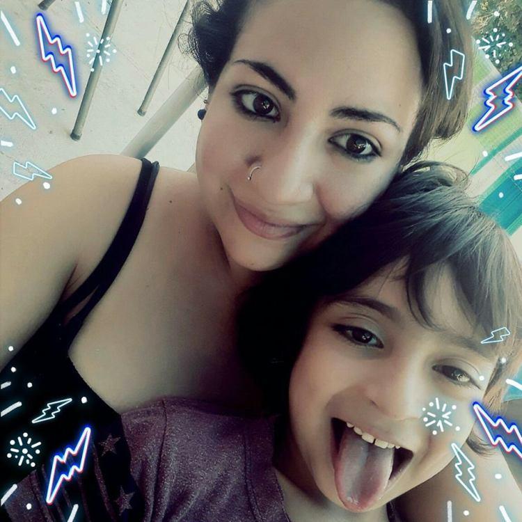 Gina y su hijo Mariano