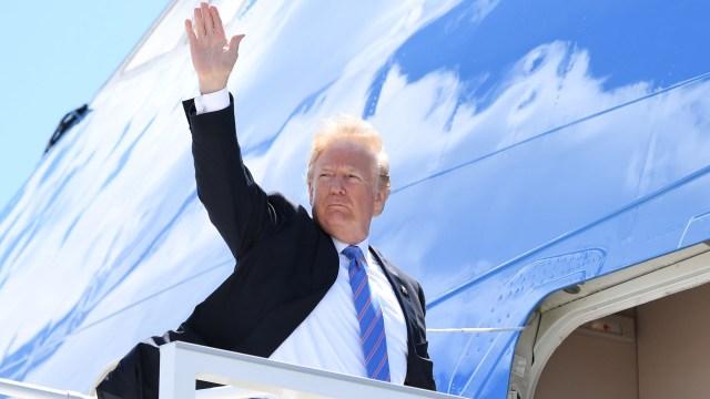 Donald Trump parte a Singapur (AFP)